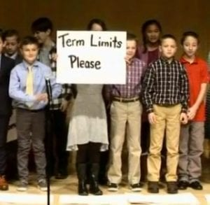elementary school students' presentation on term limits