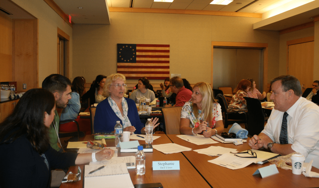 Teachers attending the institute on American civics