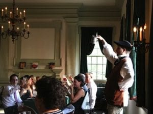 1770s-era characters perform live at the City Tavern in Philadelphia