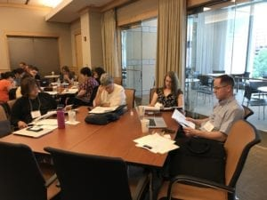 teachers study at a Rendell Center summer institute